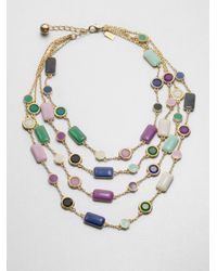 kate spade new york | Multicolor Pop Palette Statement Necklace | Lyst