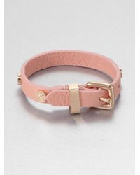 Marc By Marc Jacobs | Pink Studded Leather Bracelet | Lyst