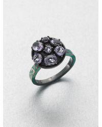 M.c.l  Matthew Campbell Laurenza - Multicolor Enamel Accented Amethyst Ring - Lyst