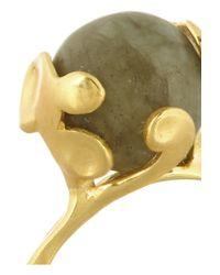 Monica Vinader - Metallic Lace Goldplated Labradorite Ring - Lyst