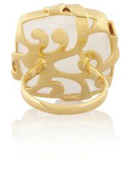 Monica Vinader - Metallic Lace Goldvermeil Moonstone Ring - Lyst