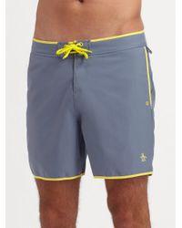 Original Penguin - Gray Volley Swim Shorts/solid for Men - Lyst