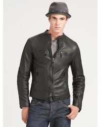 Rag & Bone - Black Cafe Racer Jacket for Men - Lyst