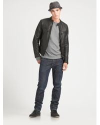 Rag & Bone | Black Cafe Racer Jacket for Men | Lyst