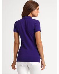 Ralph Lauren Blue Label | Purple Swarovski Crystal-big Pony Stretch Polo | Lyst