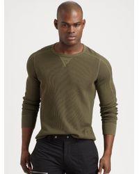 bec5319ab RLX Ralph Lauren Noble Twist Waffle-knit Crewneck in Green for Men ...