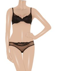Stella McCartney | Black Elodie Hopping Lace Contour Bra | Lyst