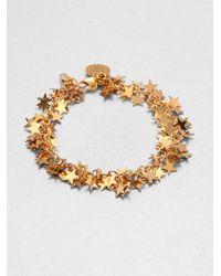 Stella McCartney - Metallic Star Charm Bracelet - Lyst