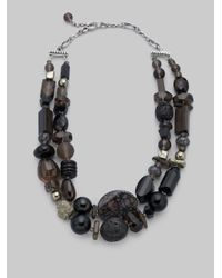 Stephen Dweck - Black Lava Agate Double Strand Necklace - Lyst