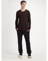 T By Alexander Wang - Black Brushed Ponte Sweatpants for Men - Lyst