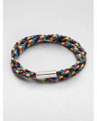 Tateossian - Multicolor Braided Leather Bracelet for Men - Lyst