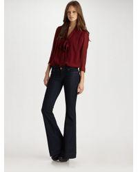 Tibi | Red Silk Bodysuit | Lyst