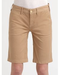 Tory Burch | Natural Bermuda Chino Walking Shorts | Lyst