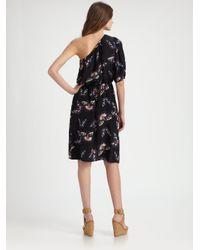 Tucker - Black Asymmetric Sleeve Dress - Lyst