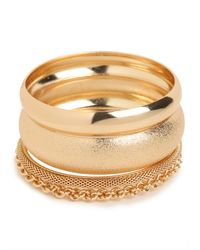 BaubleBar | Metallic Gold Bangle Quartet | Lyst