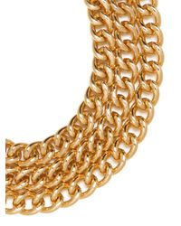 BaubleBar - Metallic Gold Triple Chain Necklace - Lyst