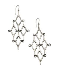 Elizabeth and James | Metallic Wishbone Chandelier Earrings | Lyst