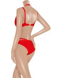 Hervé Léger | Red Strappy Bandage Bikini | Lyst