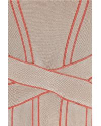 Hervé Léger | Natural Bandage Dress | Lyst