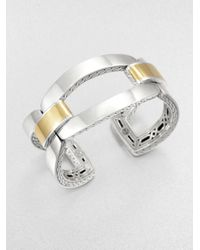 John Hardy | Metallic Sterling Silver And 22K Yellow Gold Link Bracelet | Lyst