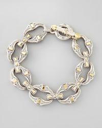 Konstantino   Metallic Mens Silver & Bronze Link Bracelet for Men   Lyst