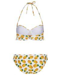 TOPSHOP   Yellow White Pineapple Bikini   Lyst
