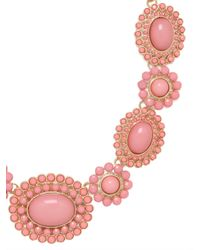 BaubleBar | Metallic Pink Sunbloom Necklace | Lyst