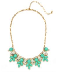 BaubleBar | Green Teal Marquise Bloom Bib | Lyst