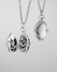 Monica Rich Kosann | Metallic Doublesided Rock Crystal Locket Necklace | Lyst