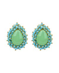 Ziba | Green Aquamarine Earrings | Lyst