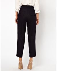 ASOS Collection - Blue Peg Trousers in Linen - Lyst