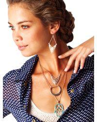 BaubleBar - Metallic Crescent Necklace - Lyst