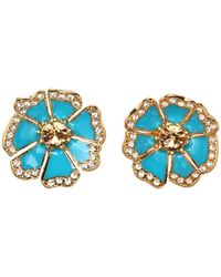 kate spade new york | Metallic Garden Grove Large Studs | Lyst
