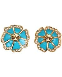 kate spade new york - Metallic Garden Grove Large Studs - Lyst
