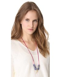 Lizzie Fortunato - Purple Gold Amulet Necklace Ii - Lyst