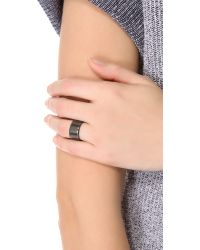 Luv Aj - Black Short Plain Ring - Lyst