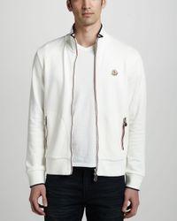 5dd27df81e2a Lyst - Moncler Flagtrim Track Jacket in White for Men