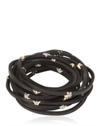 Tomasz Donocik | Metallic Sterling Stars Leather Wrap Bracelet | Lyst