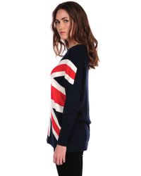 Torn By Ronny Kobo | Blue Anthea Union Jack Sweater | Lyst