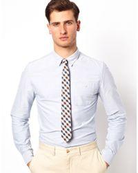 ASOS - Blue Gingham Tie for Men - Lyst