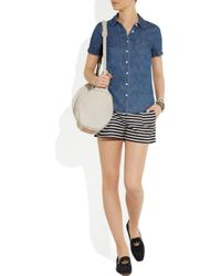 J.Crew | Blue Striped Linen and Cottonblend Shorts | Lyst