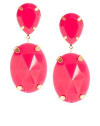 ASOS Collection - Pink Asos Gem Drop Earrings - Lyst