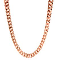 ASOS Collection - Pink Extra Long Chain Necklace - Lyst