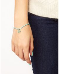 Cath Kidston - Blue Daisy Pearl Bead Bracelet - Lyst