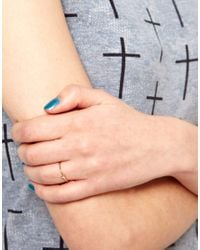 Tatty Devine | Pink Laura Lee Sapphire Set Geometric Ring | Lyst