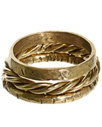 ASOS | Metallic Made Set Of Three Stacking Rings | Lyst