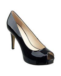 Nine West - Black Camya Peep Toe Heels - Lyst