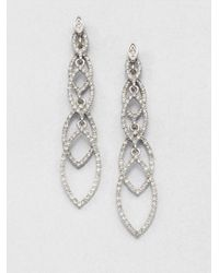 ABS By Allen Schwartz | Metallic Navette Linear Drop Earrings | Lyst