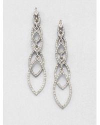 ABS By Allen Schwartz   Metallic Navette Linear Drop Earrings   Lyst