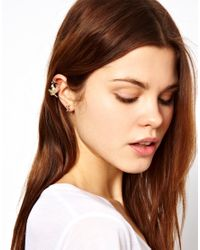 ASOS Collection   Metallic Asos Cross Earrings Love Bird Ear Cuffs   Lyst